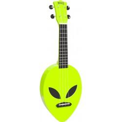 Mahalo MC1ALNGN - Ukulele soprano Alien Neon Green + housse
