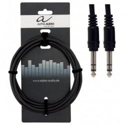 Alpha Audio 190335 - 6 Cables Patch Jack 6.35 stéréo couleurs assorties
