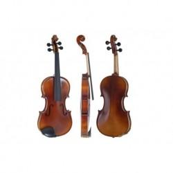 GEWA Violon Allegro-VL1 4/4 préparé pour le jeu avec étui rectangulaire archet Massaranduba cordes AlphaYue
