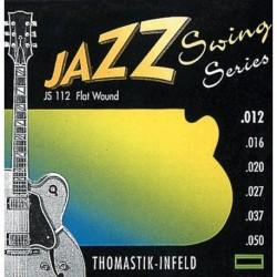 Thomastik JS112 - Corde guitare électrique Jazz Swing Series Flat Wound Jeu