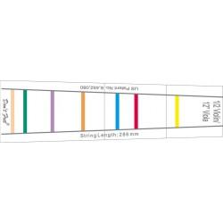 Gewa 414888 - Repère de frettes à coller sur Violon 4/4 et Alto 35,5 cm (14'')