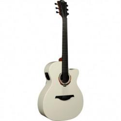 Lag LE19-IV2ACE - Guitare electro-acoustique auditorium Ivo Art Deco Limited Edition finition ivoire