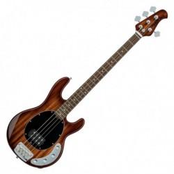 Sterling by Musicman RAY34-KOA - Basse electrique active StingRay34 Koa touche palissandre avec housse