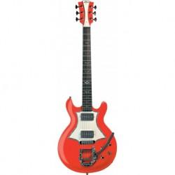 Lag RR2000-RRD - Guitare electrique Roxane Racing 2000 Red double cut HH Bigsby touche ébène
