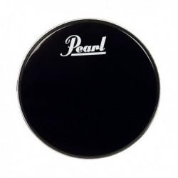 Pearl EB18BDPL - Peau de timbre pour grosse caisse noire avec logo
