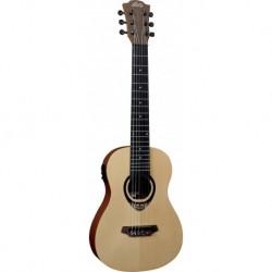Lag TKT150E - Mini Guitare electro classique table epicea massif