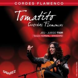 Savarez T50R - Jeu de cordes classique Flamenco Tomatito tirant normal