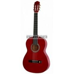 Miguel Almeria PS500053 - Guitare classique 4/4 rouge