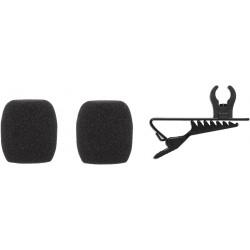 Shure RK376 - Bonnettes 2 mousses + 1 pince cravate CVL-B/C