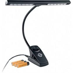 K&M 12295 - Lampe de pupitre orchestre 12 LEDs avec variateur sur secteur