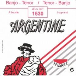 Argentine 1530 - Jeu de cordes nickel à boucle pour banjo Tenor 4 cordes