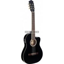 Stagg C546TCE-BK - Guitare électro-acoustique classique cutaway avec EQ à 4 bandes