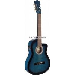 Stagg C546TCE-BLS - Guitare électro classisque 4/4 bleu