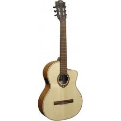 Lag OC88CE - Guitare classique électro-acoustique à pan coupé 4/4 table epicea massif