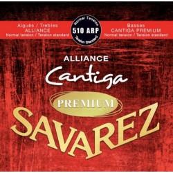 Savarez 510ARP - Jeu de cordes Alliance-Cantiga Premium Rouge tirant normal pour guitare classique