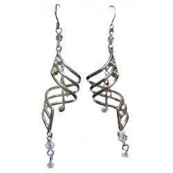 Earrings Silver Note Drops - boucles d'oreille motif notes
