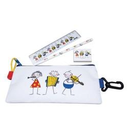 Pencil case Little Phils de luxe - trousse avec règle, crayon et gomme