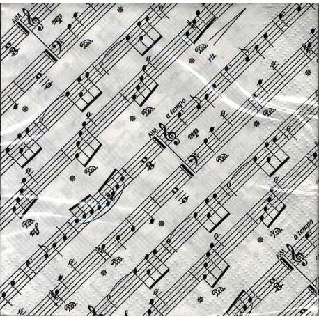 Aim gift - Serviettes 2 plis carrées motif partitions