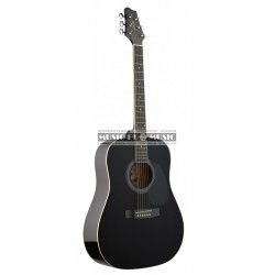 Stagg SW201BK - Guitare acoustique dreadnought noir