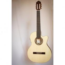 Kremona KREF65CW-SB-TL - Guitare électro classique 4/4 Slim épicéa massif touche ébène
