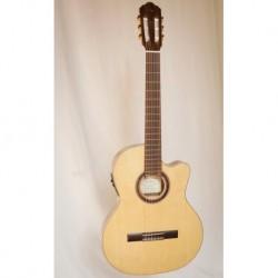 Kremona R65CW-TL 48 - Guitare electro classique 4/4 Thin Line serie Performer table épicéa massif européen largeur sillet 48