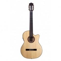 Kremona ROSA LUNA TL ++ - Guitare electro classique 4/4 Thin Line serie Flamenca table épicéa massif européen Truss Rod