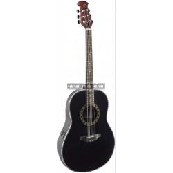 Stagg A1006-BK - Guitare électro-acoustique noire caisse abs