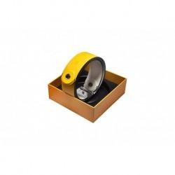 Lava Music LA-0048 - Courroie de guitare cuir synthétique jaune IDEAL STRAP