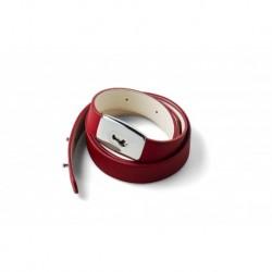 Lava Music LA-0051 - Courroie de ukulele cuir synthétique rouge IDEAL STRAP U