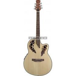 Stagg A2006-N - Guitare électro-acoustique Shallow Bowl cutaway + multi-rosaces stylisées
