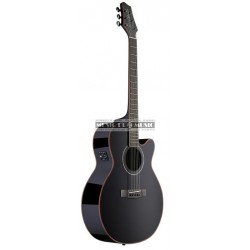 James Neligan NA38MJCBB - Guitare électro-acoustique noire