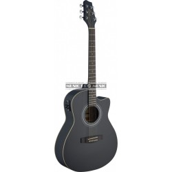 Stagg SA30ACE-BK - Guitare electro-acoustique noir mat