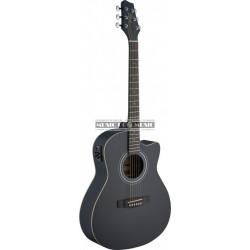 Stagg SA30ACE-BK - Guitare electro-acoustique noir mat