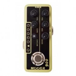 Mooer USCLASSICDLX - Pédale préampli numérique type Tweed Blues pour guitare électrique