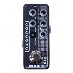 Mooer TWOSTONES - Pédale préampli numérique type US boutique pour guitare électrique