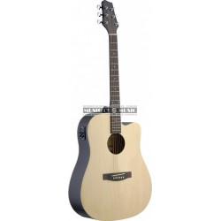 Stagg SA30DCE-N - Guitare électro-acoustique naturel