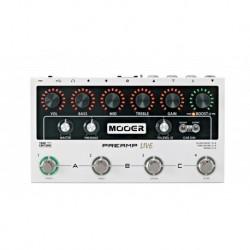 Mooer PREAMPLIVE - Pédalier préampli numérique 12 canaux indépendants (3 banques) pour guitare électrique