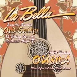 La Bella OU80-A - Jeu de cordes pour Oud Arabic Tuning