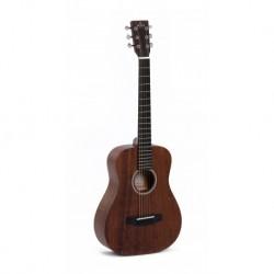 Sigma Tm-15 - guitare de voyage, table acajou massif, f/e acajou, touche micarta, housse, naturel