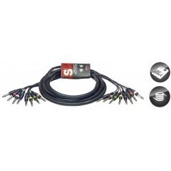 Stagg SML3/8P8P E - Multicâble 8x Jack 6.35 mono vers 8x Jack 6.35 mono 3m