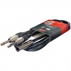 Stagg SYC050/J2P E - Câble Y jack/jack (f/m) 50cm