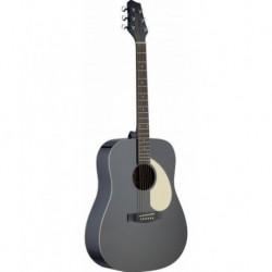 Stagg SA30D-BK - Guitare acoustique dreadnough noir mat