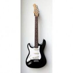 """Stagg S300-LH-BK - Guitare électrique Gaucher Standard """"S"""" noir brillant"""