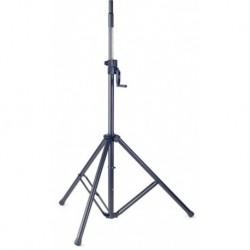 Stagg SPS50-ST WI BK - Pied d'enceinte noir avec manivelle 70kg max.