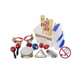 Stagg CPK-02 - Ensemble de petites percussions pour enfants avec boite