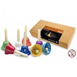 Stagg HB SET - Jeu de huit cloches de différentes couleurs couvrant une octave
