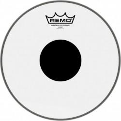 """Remo CS-0310-10 - Peau CS Transparente 10"""" avec rond noir pour Tom/ Caisse claire"""