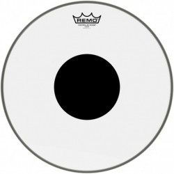 "Remo CS-0315-10 - Peau CS Transparente 15"" avec rond noir pour Tom"