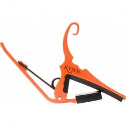 Kyser KG6NOA - Capodastre Neon Orange pour guitare acoustique