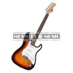Delson S100-SB - Guitare électrique sunburst forme stratocaster